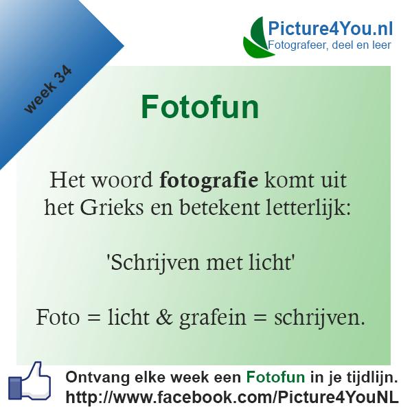 Fotografie weetjes Fotofun week 34